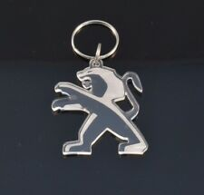 Peugeot Badge Car Keyring - Handmade Laser Cut Clear Acrylic Gift