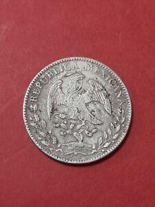 MEXIKO 8 Reales aus dem Jahre 1857 /Silber P.F.10.D.20G. 22,51 Gramm Silbermünze