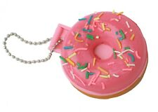 Doughnut Squishy Keyring Vanity Mirror Bag Pink Charm Krispy Kreme