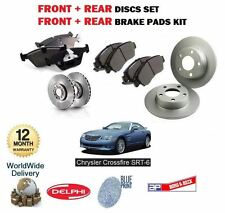 FOR CHRYSLER CROSSFIRE SRT 6 2003-2007 FRONT + REAR BRAKE DISCS SET & PADS KIT