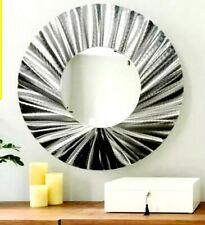 BRILLIANT! Metal Wall Mirror Art Handmade Abstract Silver Decor Jon Allen