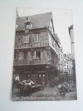 FRANCE, ROUEN.  Vieille Maison Rue Eau-De-Robec  Vintage Postcard   §A2796