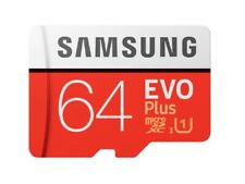 Nuevo Samsung Plus 64GB Micro SD SDXC Clase 10 Tarjeta de memoria con ADP 2020 FHD
