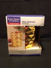 New Gold Metallic Wax Warmer Better Homes & Gardens Plug In Holiday Edition