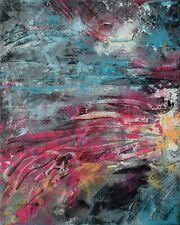 """Peinture sur toile Tableau abstrait Paysage original signé HZEN  """"LA TANGENTE"""""""