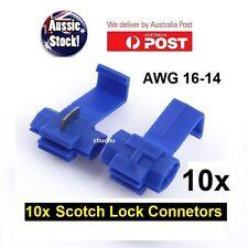 10PCS WIRE CONNECTOR SCOTCH LOCK QUICK SPLICE BLUE WIRE TERMINALS AUTO CAR