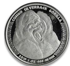 2019 silver Gorilla Congo Silverback 1 oz ounce coin 5000 francs + capsule unc.