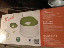 Karibu Baby 3-in-1 Step Potty Color: Green/White Brand New in Box