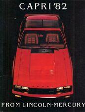 MERCURY CAPRI 1982 USA delle vendite sul mercato opuscolo standard L GS RS MAGIA NERA