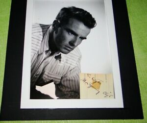 MONTGOMERY CLIFT - AUTOGRAPH signed cut