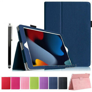 """For Apple iPad 9th Generation 10.2"""" (2021) Leather Flip Stand Case Cover"""