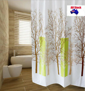 Extra Long Tree Printed Waterproof Polyester Fabric Shower Curtain 180x180CM