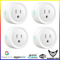 Wifi Smart Plug Remote Control Socket Outlet works w Alexa&Google [2 or 4 Packs]