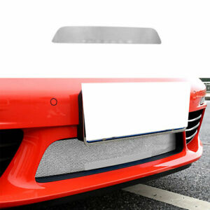 For Porsche 718 2016-2021 Silver Steel Front Bumper Center Hood Grill Mesh 1PCS
