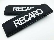 JDM KEYS BLACK RECARO RACING DRIFT SEAT BELT SHOULDER PADS COVERS