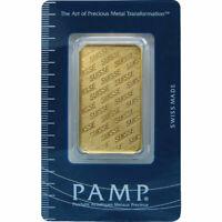 1 oz PAMP Suisse Gold Bar (PAMP Design, New w/ Assay)
