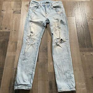 American Eagle Blue Denim Mens Size 31X32 Next Level Airflex Slim Straight Jeans