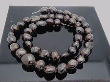 "Natural Red Garnet Gemstone Smooth Nugget Freeform Beads 15.5"" Strand 44 Beads"
