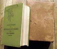 Encyclopédie des ouvrages de dames De Dillmont DMC couture,