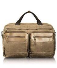 Genuine Tumi T-Tech Forge Rum Canvas & Leather Moore Soft Satchel RRP $549.95