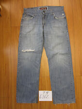 Used 549 low loose fit blue levi's jean tag 34x32 meas 34x31 zip6762