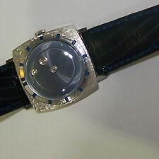 Rare Vintage LeCoultre 2 Diamond Mystery Dial Watch