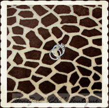 BonEful Fabric FQ MINKY KNIT Lg Giraffe Skin Animal Jungle African Print Pattern