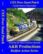 CSX OVER SAND PATCH CUMBERLAND TO MEYERSDALE CLASSIC RAILROAD VIDEOS NEW DVD