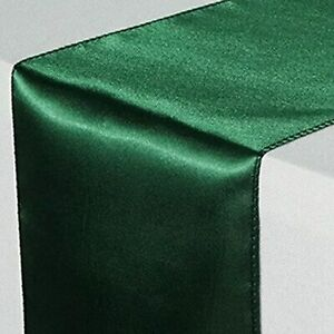 1pc 30 x 275 cm Solid Color Satin Table Runners Wedding Party Table Decoration