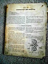 vintage 1950's Ford Fordomatic service Manual