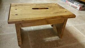 Wood step stool hand crafted with  hand hold stained primitive rustic