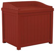 Outdoor Patio Deck Storage Seat Garden Box 22 Gal. Container Durable Waterproof