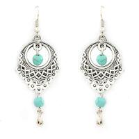 1 Pair Boho Women Vintage Turquoise Earrings Drop Dangle Ear Hook Jewelry Gift