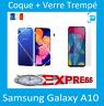 Pour Samsung Galaxy A10 Coque Souple  +Vitre Protection écran Verre Trempe
