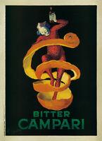 Bitter Campari - Leonetto Cappiello Art Print Vintage Retro Bar Poster 23.5x31.5