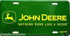 John Deere green field tractor truck tag license plate pickup combine loader jd