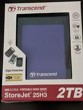 Transcend StoreJet 25H3 2TB USB 3.1/3.0 Portable Drive (TS2TSJ25h3p) *** NEW***