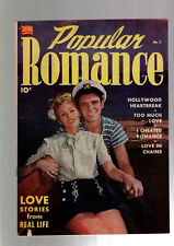 POPULAR ROMANCE #5 (1st issue SERIES) PRE CODE RACY GOOD GIRL ART 1949