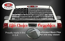 Black and White Pledge Am Flag Rear Window Graphic Decal Sticker Truck Van Car