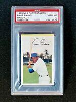 1969 MLB PhotoStamps Ernie Banks Hand Cut PSA 10 Gem Mint