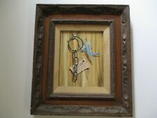MYSTERY PAINTING Trompe L'oeil  MODERNISM VINTAGE SURREALISM STILL LIFE CHAIN
