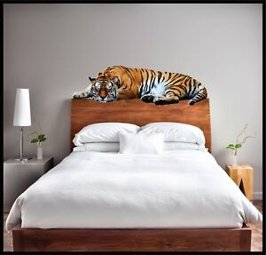 LAZY TIGER - Wall Decal   /  Removable and Reusable  /  Wild Animal Zoo Decor