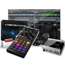 Native Instruments Traktor Scratch A6 & Kontrol F1 DJ Midi Controller Package