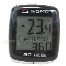 SIGMA BC 12.12 Bike Computer STS Wired 12 Function, Black
