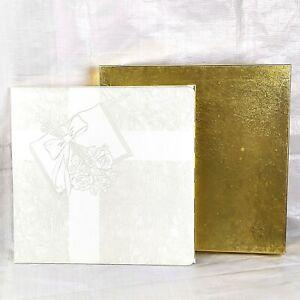 1960s Taprell Loomis Wedding Photo Picture Album, White Gold Vintage NOS