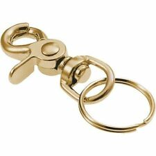 (CASE OF 50)   Brass Swivel Hook Trigger Snap WITH KEY RING- Key Chains