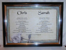 DOUBLE NAME SCROLLS ENGAGEMENT GIFT WEDDING ANNIVERSARY *QUALITY GIFT *ANY NAMES