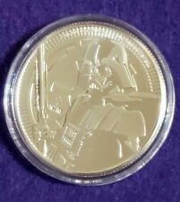 BU 2019 DARTH VADER light saber .999 Fine SILVER 1oz. Niue $2 STAR WARS Coin