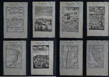 1683 Manesson MALLET Atlas 8 x maps City Views  South America  Amerique
