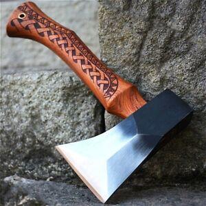 TOMAHAWK Tactical Axe Steel Manual Wood Carving Handle Forging Axe Outdoor Axe